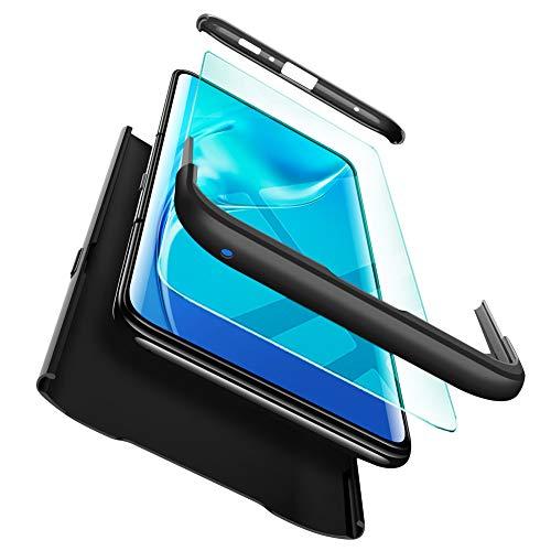 ivencase Funda Samsung Galaxy A80 + Cristal Templado, para Samsung Galaxy A80 Funda 3 in 1 Rígida PC Protective Anti-rasguños Case Cover Caso