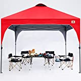 ABCCANOPY Outdoor Pop up Canopy Tent 10x10 Camping Sun Shelter-Series, Red