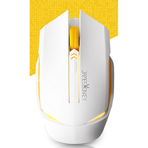 NEW Wired Gaming Mice James Donkey 112 White Color Optical 2000DPI USB Mice LED Tuning