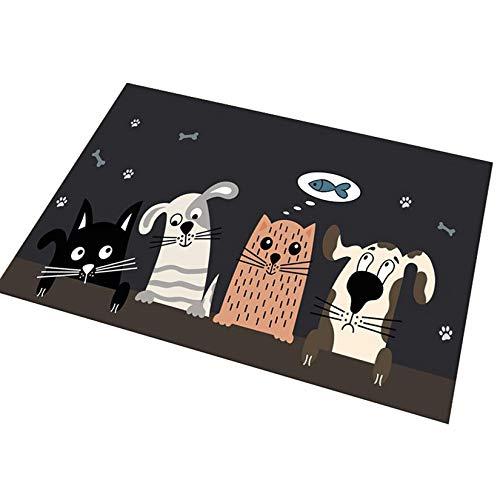 Rehe Alfombra de Baño De Dibujos Animados Tapetes Antideslizantes para Sala de Estar y Dormitorio La Alfombrilla Absorbente Suave para Niños #5 S