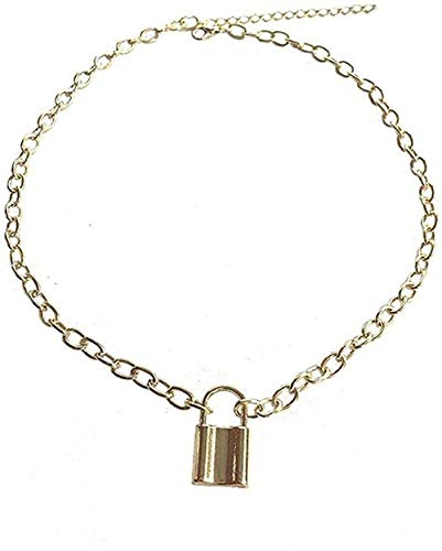 N-G Necklace Modern Popular Exquisite Necklace Stainless Steel Padlock Pendant Modern Fashionable