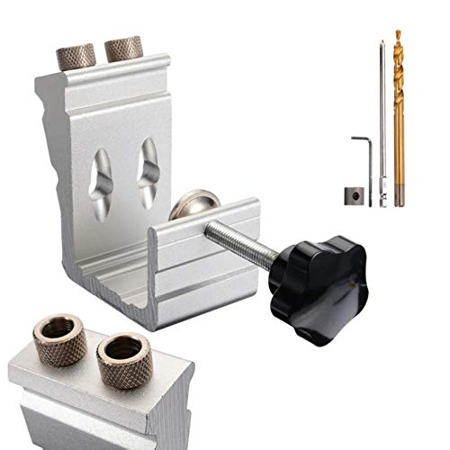 Pocket Hole Jig Inclined Hole Positioner Pocket Jig Kit 25PCS Aluminum Woodworking Punch Locator