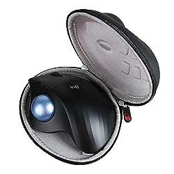 Étui de transport rigide Hermitshell. Protégez votre appareil préféré des chocs et des rayures. Conçu pour s'adapter à la souris trackball sans fil Logitech ERGO M575. Matériau : EVA. Couleur : noir. Étui uniquement (appareil et accessoires vendus sé...