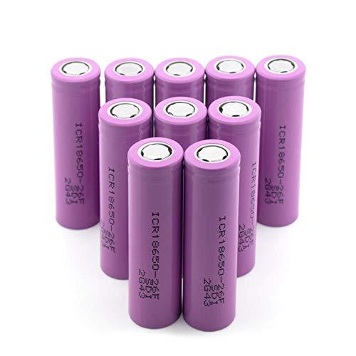 wangxiaoping 3.7V Rosa Recargable ICR 18650-26F 2600mAh Li-Ion baterías de Litio PCB Protegido Flat-Top 18650 batería-3,7 V_10 Piezas