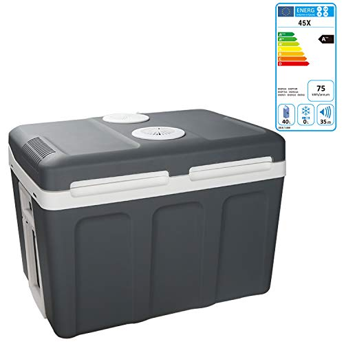 Hengda 45 Liter Kühlbox, WÄRMT und KÜHLT, tragbare thermo-Elektrische Kühlbox 12 V und 230 V, Mini-Kühlschrank für Auto, Lkw, Camping, Steckdose Energieklasse