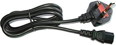 Official Microsoft Xbox 360 Slim power cable lead - UK plug for 2 pin power supply units