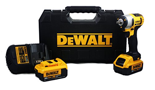 "DeWalt DCF883M2 20V MAX Lithium Ion 3/8"" Impact Wrench Kit with Hog Ring"