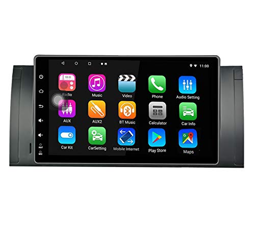 LEXXSON Android Car Navigation Stereo per BMW X5 E39 E53 M5 | Octa Core Android 8.1 Autoradio 4 GB RAM 32G ROM 9' IPS Touch Screen Headunit Supporto GPS Bluetooth WiFi RDS
