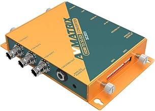 AVMATRIX SC2031 HDMI/AV to 3G-SDI Scaling HDMI Converter Output: 3G-SDI×3, AES/EBU×1, analog audio×1 Up/down scaling and f...
