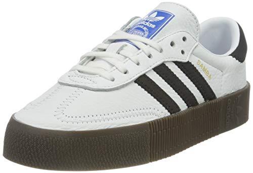 Adidas Sambarose, Zapatillas Clasicas Mujer, Blanco (Cloud White/Core Black/Gum5), 40 EU