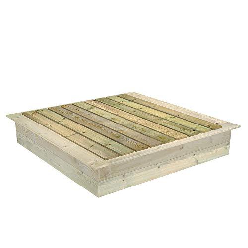 FATMOOSE Sandkastendeckel zum PowerPit Sandkasten 165 x 165 cm
