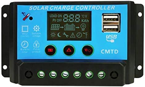 PAJKWW WCY Same day shipping Pwm Solar Panel Bargain sale Charge USB Controller 2X Battery Auto
