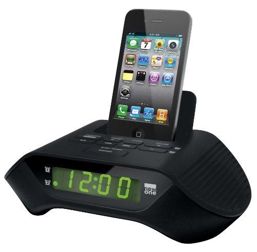 NEW One icr110Docking Station (Orologio Radio, PLL Tuner, Dual sveglia) per Apple iPhone/iPod