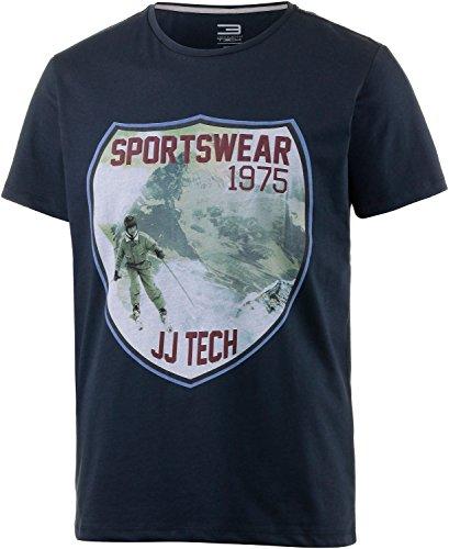 Jack & Jones Tech T-Shirt Mountain à Encolure Ras du Cou L Navy Blazer