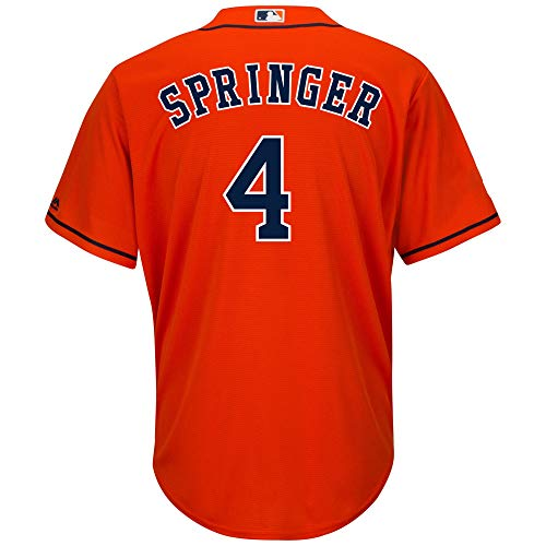 Outerstuff George Springer Astros #4 Orange Youth Cool Base Alternate Replica Jersey (Small 8)