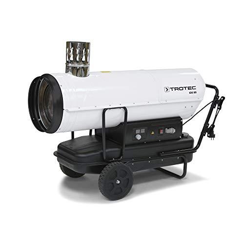 TROTEC Ölheizgebläse IDE 80 Heizkanone Ölheizer Ölbeheizung Heizer (80 kW Heizleistung) inkl. externes Thermostat und Verlängerungskabel(20m)