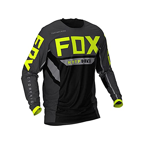 Downhill Jerseys Mountain Bike MTB Shirts Offroad Dh Motorcycle Motocross Sportwear Clothing Http Fox Shirt Spexcel-S