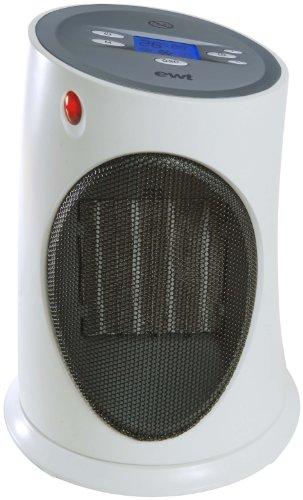 EWT Ceramic C120LCD Keramikheizer / 2000 Watt/beleuchtetes LC-Display/Grob-Luftfilter/Kontroll-Leuchte/blau