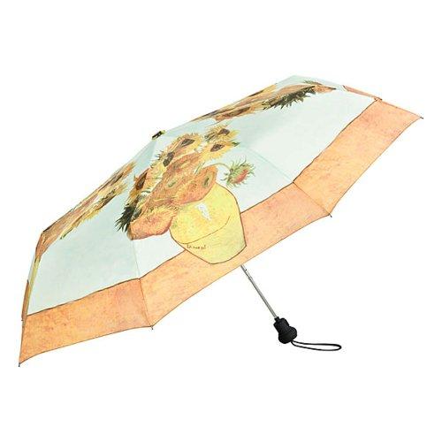 VON LILIENFELD Regenschirm Taschenschirm Vincent Van Gogh Sonnenblumen Stabil Leicht Auf-Automatik Kunst Motiv