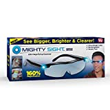 Mighty Sight Magnifying Glass with LED Light & Travel Case - Magnifying Glasses for Close Work - Computer Glasses for Women, Men's Reading Glasses, Eye Glasses with Work Light - As Seen on TV