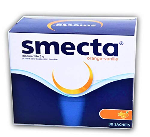 Smecta Diosmectite 3g, Soforthilfe bei Durchfall 30 Päckchen - Orangengeschmack