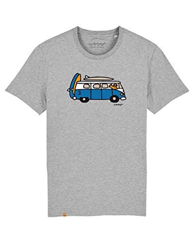 Cencibel Smart Casual Camiseta Callate La Boca Gris Furgoneta Surf Vacaciones (M)