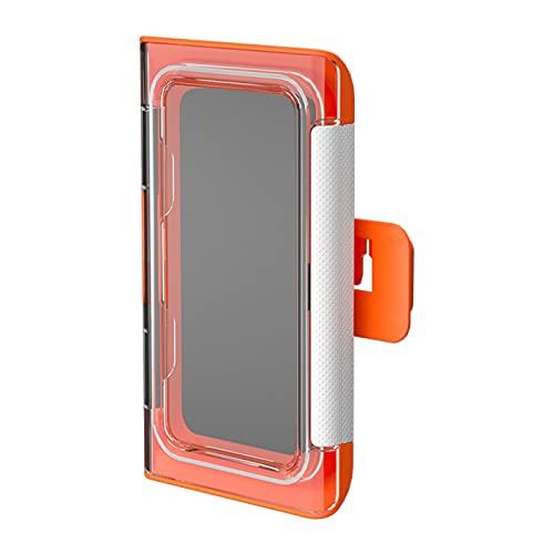 BULABULA Soporte de pared para teléfono móvil, resistente al agua, giratorio, para baño o cocina