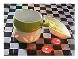 Herramienta de Queso de 300 ml Caldera de Chocolate de cerámica Helado Helado Helado Fondue Queso Cocina Hermosa Tiempo de Ocio Fondue Sets ecológico (Color : B)