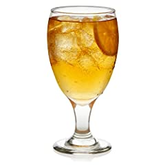 All-purpose glass works equally well with iced tea, lemonade or sangria Traditional shape designed for water glass table setting, perfect for party hosting and entertaining.Diameter:3.1 inch Includes 12, 16.25-ounce goblet glasses Made lead-free. Sec...