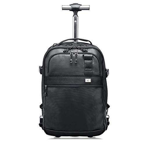 GQY Trolley - Trolley men and women cloth bag trolley case - trolley hand luggage ultra-lightweight and durable (Color : Black, Size : 50 * 33 * 19cm)
