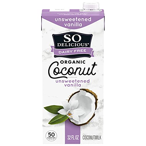 So Delicious Dairy-Free Organic Coconutmilk Beverage, Unsweetened Vanilla