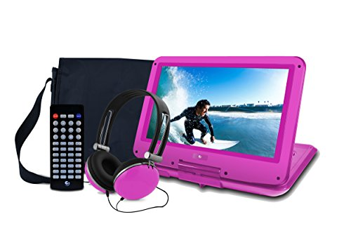 Purchase Ematic Portable DVD Player with 12-inch LCD Swivel Screen, Travel Bag, Headphones and Remot...