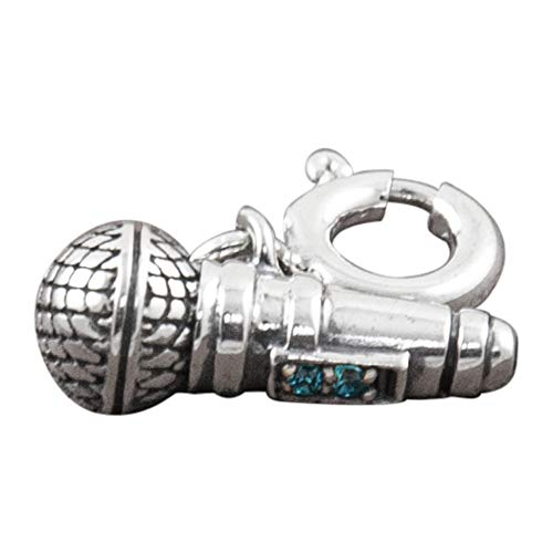 Fourseven Jewelry 925 Sterling Silver Bead Charm Pendant | Sing Your Heart Our Microphone Charm for Bracelet and Necklace. Buy it now for 18.99