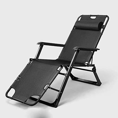 XLYYHZ Sillones de Patio Silla Plegable con Estructura de Metal de Acero al Carbono, sillón reclinable Multifuncional, sillón portátil Home Beach con balcón, sillón reclinable Individual ple