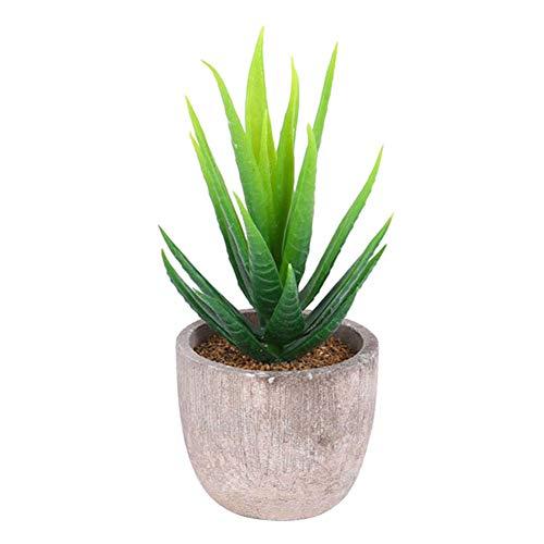 Garretlin - Maceta artificial para decoración de jardín, PVC + maceta de papel para pulpa., verde claro, talla única