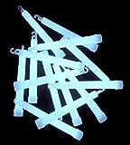 25 barras fluorescentes de 150 x 15 mm, color blanco, para eventos, bodas, iluminación de emergencia, luces de señalización