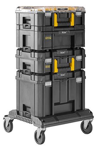 Stanley FatMax Pro-Stack Werkzeug-Tower (bestehend aus Organizer, Schubladenbox, Kofferbox, tiefe Box und Roll-Cart, vielseitig einsetzbar, für alle Handwerker, Installateure, Heimwerker) FMST1-80107