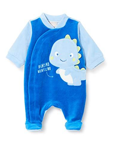 Chicco Tutina con Apertura Frontale Mamelucos para bebés y niños pequeños, Azzurro e BLU, 44