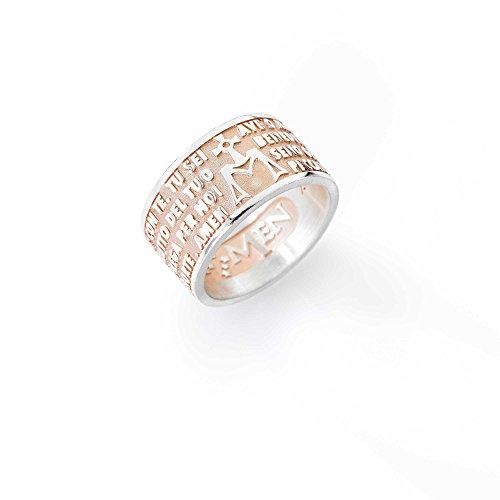 anello uomo gioielli Amen Ave Maria misura 24 casual cod. AMR-24