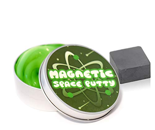 Kobra Magnetic Space Putty, Black Magnetic Putty Slime with 1 in² Manipulator Magnet, Magnetic Slime Toys for Girls and Boys, Great Stress Reliever for Adults & Kids! Green