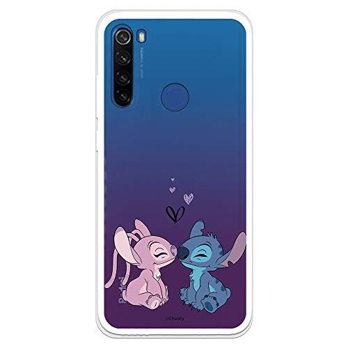 Funda para Xiaomi Redmi Note 8T Oficial de Lilo & Stitch Angel & Stitch Beso para Proteger tu móvil. Carcasa para Xiaomi de Silicona Flexible con Licencia Oficial de Disney.