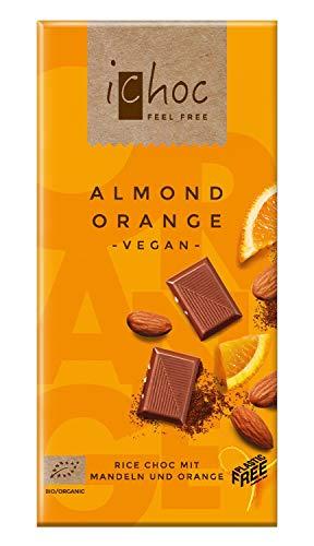 ichoc Vivani Organic Chocolate Almond Orange 80g | Sin lactosa | vegano