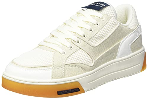 SCOTCH & SODA FOOTWEAR Herren New Cup Sneaker, White, 43 EU