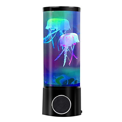FC Fancy LED Qualle Lava Lampe mit Bluetooth Lautsprecher Fantasy Stimmung Nachtlicht Aquarium 7 Farbe Wechseln Wirkung, Geschenk für Männer Frauen Kinder,Dekaration fuer Home Buero