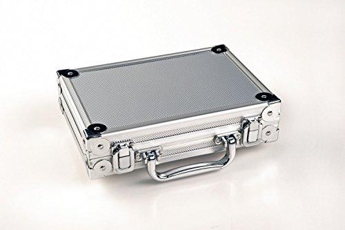 Winsport 8.025,02 Dartkoffer Lusso in Alluminio, Argento