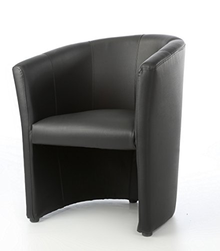 Design Cocktailsessel Sessel Clubsessel Loungesessel Club Möbel Bürosessel Praxismöbel schwarz