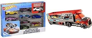 Hot Wheels 9-Car Gift Pack (Styles May Vary) AND Hot Wheels Blastin' Rig Vehicle
