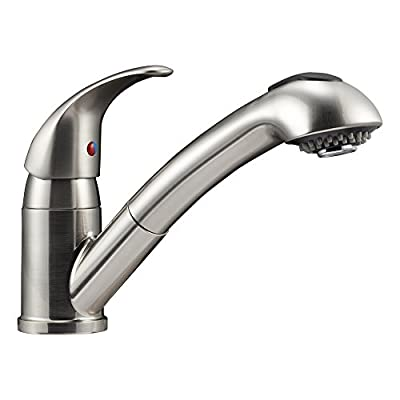 Dura Faucet DF-NMK852-SN RV Pull-Out Swivel Kitchen Sink Faucet (Brushed Satin Nickel) by Dura Faucet