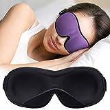 Unimi Schlafmaske 2020 Neues Upgrade Innen Gepolsterte Nase Design, Augenmaske aus weichem, atmungsaktivem Material zum Schlafen, Augenschutzabdeckung mit verstellbarem Riemen für Travel Meditation