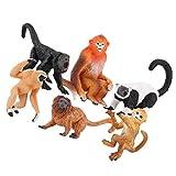 NUOBESTY 6 Piezas Figuras de Mono Juguetes Realista Mono de Plástico Estatuilla Cumpleaños Cake Toppers Selva Animal Figuras de Acción Niños Juguetes Educativos